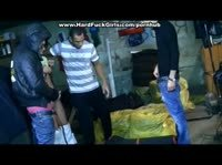 Толпа Русских клоунов во главе с негром насилуют проститутку