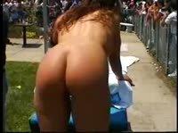 Девицы заводят публику голыми телами