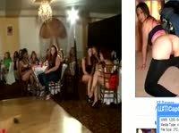 Модный стриптизер предлагает самкам в клубе подергать и пососать конец