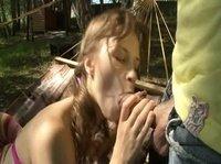 Отличный секс в гамаке