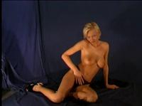Блондинка, участвует в порно кастинге