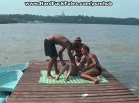 Групповое порно на пляже