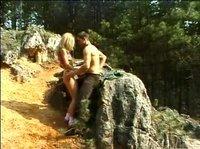 Страстный секс в лесу