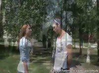 Молодая Маша трахается с незнакомцем
