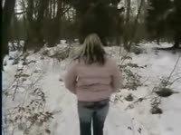 Экстремальный секс в зимнюю пору
